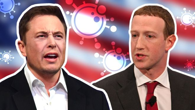 Musk v Zuckerberg: Opposing views on America's shutdown